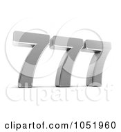 Royalty Free 3d Clip Art Illustration Of A 3d Lucky Triple Seven 777