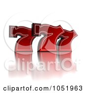 Royalty Free 3d Clip Art Illustration Of 3d Red Triple Lucky Sevens 777 by stockillustrations