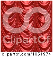 Royalty Free 3d Clip Art Illustration Of A 3d Red Drapery Cloth Background
