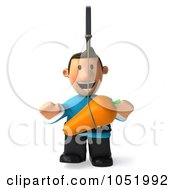 Royalty Free 3d Clip Art Illustration Of A 3d Casual Man Chasing A Carrot On A Stick 1