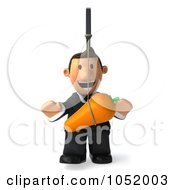 Royalty Free 3d Clip Art Illustration Of A 3d Business Toon Guy Following A Carrot On A Stick 1