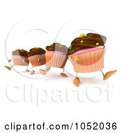 Cake Walk Clipart : Royalty-Free (RF) 3d Cupcake Clipart, Illustrations ...