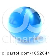 Royalty Free 3d Clip Art Illustration Of A 3d Blue Glass Sphere