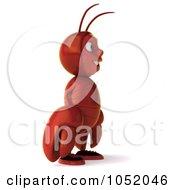 Royalty Free 3d Clip Art Illustration Of A 3d Lobster Facing Right