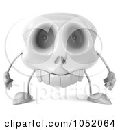 Royalty Free 3d Clip Art Illustration Of A 3d Skull Character
