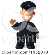 Royalty Free 3d Clip Art Illustration Of A 3d Sheriff Toon Guy Waving