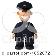Royalty Free 3d Clip Art Illustration Of A 3d Sheriff Toon Guy by Julos