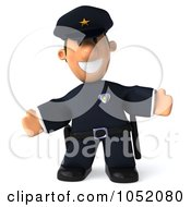 Royalty Free 3d Clip Art Illustration Of A 3d Sheriff Toon Guy Welcoming