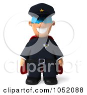 Royalty Free 3d Clip Art Illustration Of A 3d Super Sheriff Toon Guy