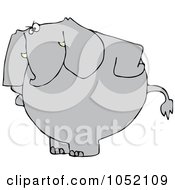 Royalty Free Vector Clip Art Illustration Of An Upset Elephant Standing With His Hands On His Hips