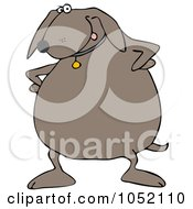 Royalty Free Vector Clip Art Illustration Of An Upset Dog Standing With His Hands On His Hips
