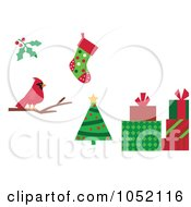 Royalty Free Vector Clip Art Illustration Of A Digital Collage Of Christmas Icons