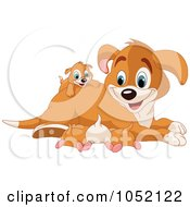 Royalty Free Vector Clip Art Illustration Of A Happy Beagle Mom With Puppies