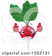 Royalty Free Vector Clip Art Illustration Of A Happy Radish Character