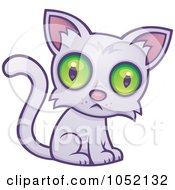 Sad Green Eyed Cat