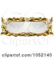 Royalty Free Vector Clip Art Illustration Of An Ornate Gray And Gold Frame With Copyspace by AtStockIllustration