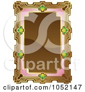 Royalty Free Vector Clip Art Illustration Of An Ornate Brown Pink And Gold Frame With Copyspace