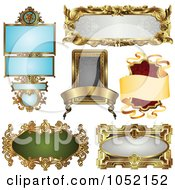 Royalty Free Vector Clip Art Illustration Of A Digital Collage Of Antique And Retro Styled Ornate Frame Designs 3