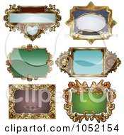 Royalty Free Vector Clip Art Illustration Of A Digital Collage Of Antique And Retro Styled Ornate Frame Designs 1