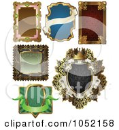 Royalty Free Vector Clip Art Illustration Of A Digital Collage Of Antique And Retro Styled Ornate Frame Designs 2