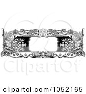 Royalty Free Vector Clip Art Illustration Of A Vintage Black And White Rococo Or Baroque Horizontal Frame