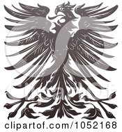 Royalty Free Vector Clip Art Illustration Of An Imperial Eagle Design