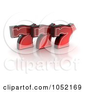 Royalty Free 3d Clip Art Illustration Of 3d Red Lucky Sevens 777 by stockillustrations