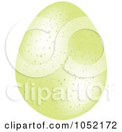Royalty Free 3d Vector Clip Art Illustration Of A 3d Speckled Pastel Green Easter Egg