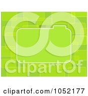 Royalty Free Vector Clip Art Illustration Of A Green Tabbed Label On A Green Abstract Background by elaineitalia
