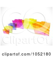 Royalty Free Vector Clip Art Illustration Of A Background Of Flying Colorful Striped Folders