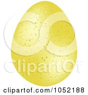 Royalty Free 3d Vector Clip Art Illustration Of A 3d Speckled Yellow Easter Egg