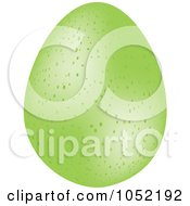 Royalty Free 3d Vector Clip Art Illustration Of A 3d Speckled Green Easter Egg