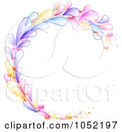 Royalty Free Vector Clip Art Illustration Of A Circular Frame Of Colorful Lava Drops by elaineitalia