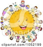Kids Surrounding The Sun