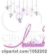 Royalty Free Vector Clip Art Illustration Of A Bridesmaid Background With Suspended Rings