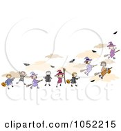 Royalty Free Vector Clip Art Illustration Of Doodled Halloween Kids