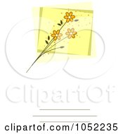 Royalty Free Vector Clip Art Illustration Of An Invitation Design With Yellow Flowers