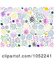Royalty Free Vector Clip Art Illustration Of A Background Of Colorful Swirls On White