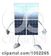 Royalty Free 3d Clip Art Illustration Of A 3d Solar Panel Character by Julos