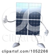 Royalty Free 3d Clip Art Illustration Of A 3d Solar Panel Character Giving A Thumbs Up