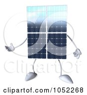 Royalty Free 3d Clip Art Illustration Of A 3d Solar Panel Character Gesturing