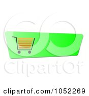 Royalty Free Clip Art Illustration Of A Lime Green Shopping Cart Button by oboy