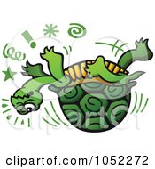 Royalty-Free Vector Clip Art Illustration of an Unlucky Tortoise Slipping by Zooco