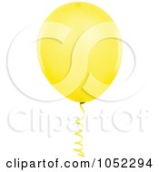 Royalty Free Vector Clip Art Illustration Of A Yellow Helium Party Balloon Logo by dero
