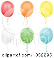 Digital Collage Of Helium Party Balloons 1