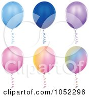 Digital Collage Of Helium Party Balloons 2