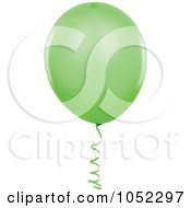 Royalty Free Vector Clip Art Illustration Of A Green Helium Party Balloon Logo by dero