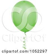 Royalty Free Vector Clip Art Illustration Of A Green Helium Party Balloon Logo