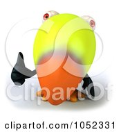 Royalty Free 3d Clip Art Illustration Of A 3d Toucan Giving A Thumbs Up