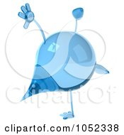 Royalty Free 3d Clip Art Illustration Of A 3d Water Droplet Doing A Cartwheel